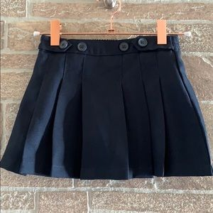 Chaps Pleated Button Accent Skort